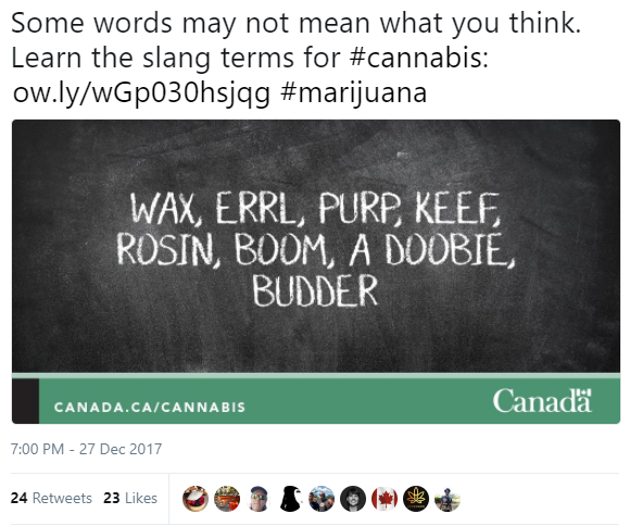 HealthCanada Tweet